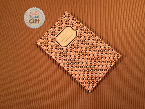 Carnet 9x14 - Rétro années 70 – Orange