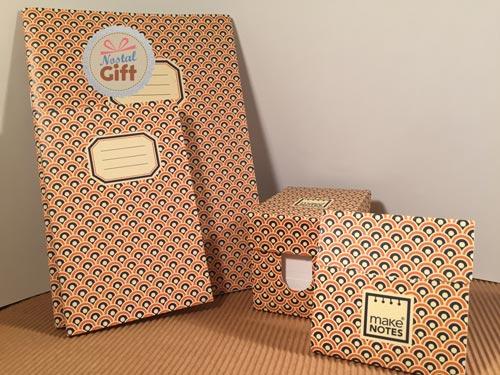 carnet 9 14 r tro ann es 70 orange nostalgift objets bonbons vintage coffrets. Black Bedroom Furniture Sets. Home Design Ideas