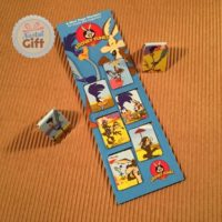 Marque page - Looney toons - Coyotte et bip bip