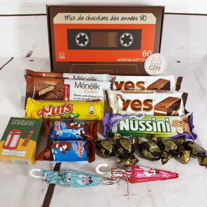 Boîte à chocolats des années 80