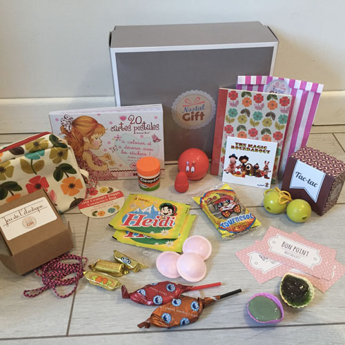 coffret cadeau g n ration 70 femme nostalgift objets bonbons vintage coffrets. Black Bedroom Furniture Sets. Home Design Ideas