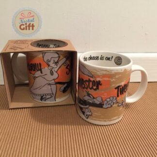 Mug Looney Tunes – Course poursuite Grand-Mère, Sylvestre et Titi