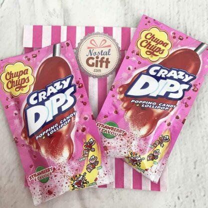 Crazy dips à la fraise x2