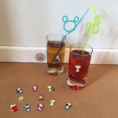 Snoopy - 12 marque-verres repositionnables