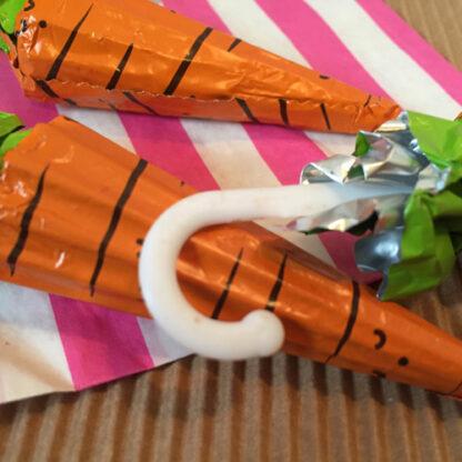 Parapluie au chocolat motif Carotte x3