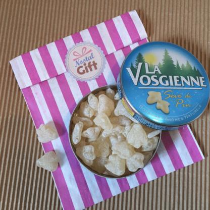Boîte de bonbons La Vosgienne à la sève de pins