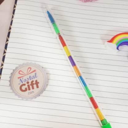 Crayon pousse-mine mutlicolor