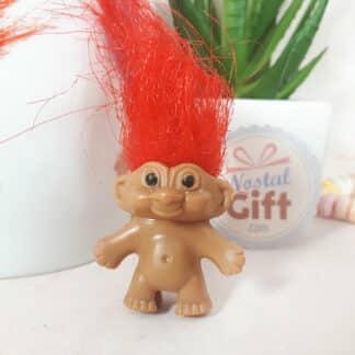 Troll vintage - figurine / Embout de crayon ou stylo