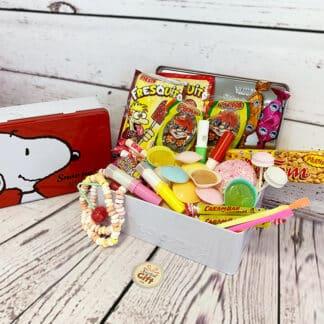 """Coffret Cadeau : Bonbons des années 70 """"Snoopy"""""""