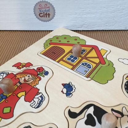 Puzzle à encastrement - La Ferme - 8 pièces