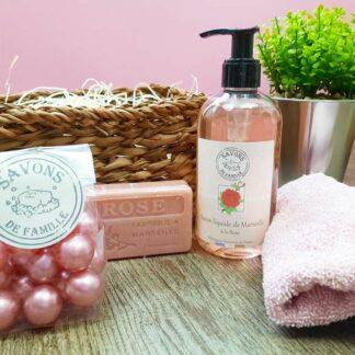 Coffret cadeau - Savons de marseille Parfum de Rose
