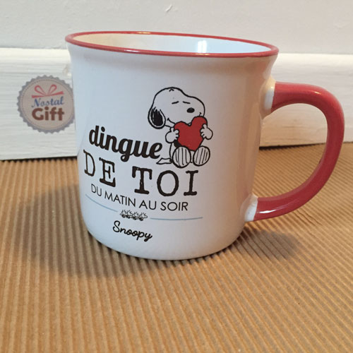 grande tasse snoopy dingue de toi du matin au soir. Black Bedroom Furniture Sets. Home Design Ideas