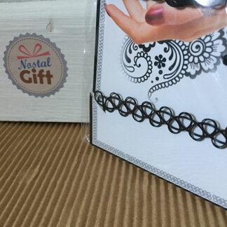 Ensemble de bijoux style Tattoo - Ras du cou