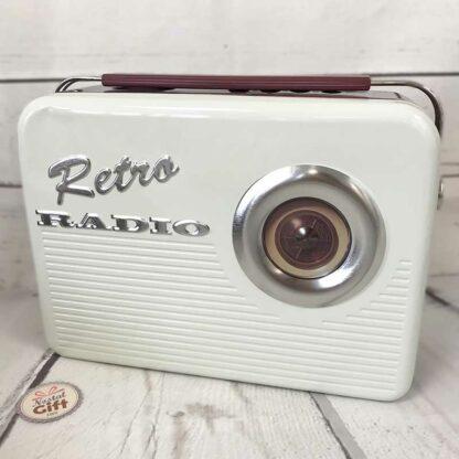 Coffret bonbon ancien - Grande mallette en métal Radio Vintage