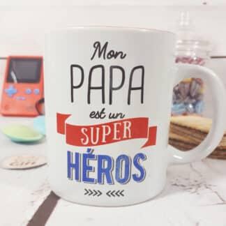 "Mug ""Papa est un super héros"" - Cadeau papa"
