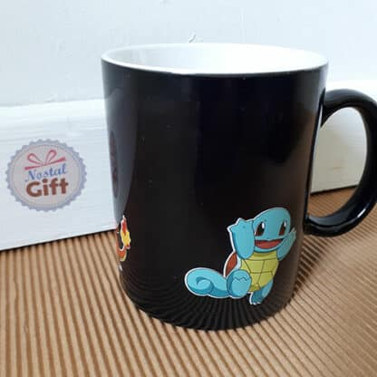 Mug Pokemon thermoreactif - Carapuce, Salamèche, Bulbizarre