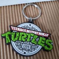 Tortue Ninja - Porte-clé rétro logo de Turtles