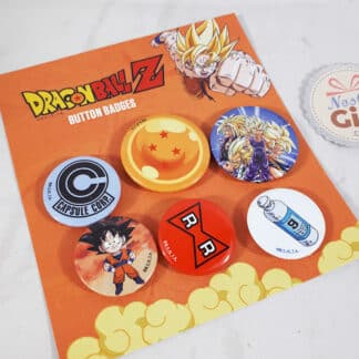 Set de 6 badges rétro - Dragon Ball Z