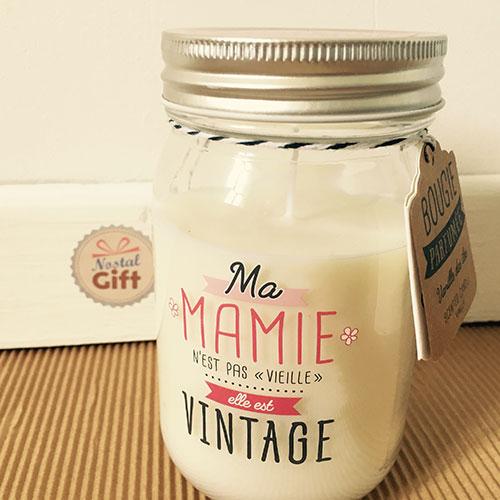 Bougie jar ma mamie est vintage cadeau grand m re nostalgift objets bonbons vintage - Idee cadeau pour mamie ...