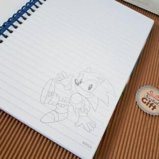 Sonic The Hedgehog - Cahier A5 à couverture rigide