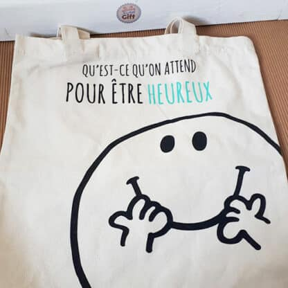 Tote bag en coton - Monsieur Madame