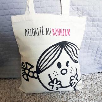 Tote bag en coton - Monsieur Madame