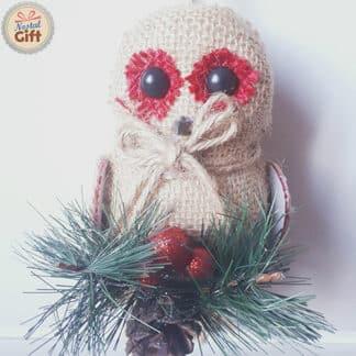 Décoration de Noël en jute à suspendre - Étoile