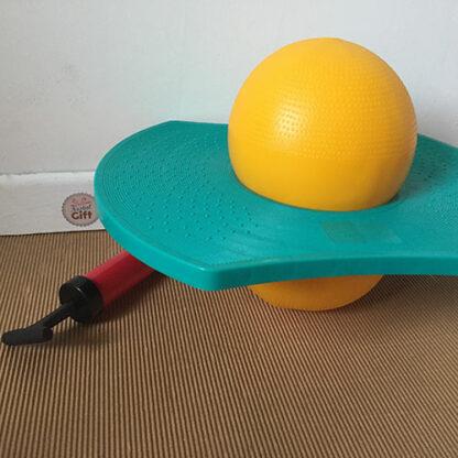 Jump Jumper : Ballon sauteur avec repose pieds