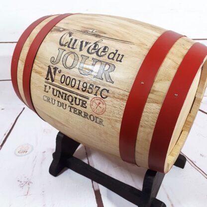 Tonneau à vin retro - Distributeur de Vin - 5 Litres - Idee cadeau homme