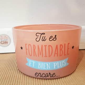 """Bougie à trois mèches """"Tu es formidable"""" - Idée cadeau"""