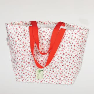 "Grand sac shopping vintage ""La Petite Rose"""