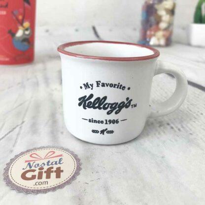 Tasses à café/expresso Kellogg's vintage rouge