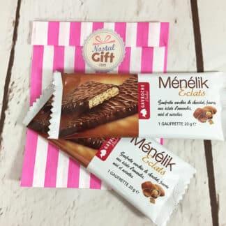 Gâteau Ménélik au chocolat - Gaufrette triangulaire x2