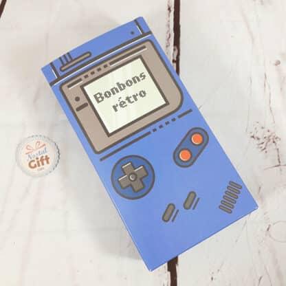 Coffret cadeau : Boîte console retro remplie de bonbons à la poudre