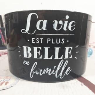 """Bougie à trois mèches """"La vie est plus belle en famille"""" - idée cadeau"""