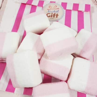 Guimauve cube rose et blanc x10