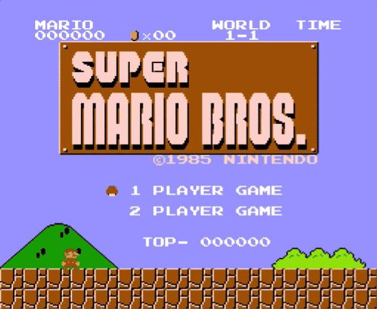 Mario Bros menu
