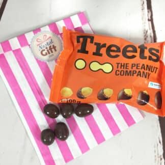 Treets : Cacahuètes enrobés de chocolat au lait (100g)