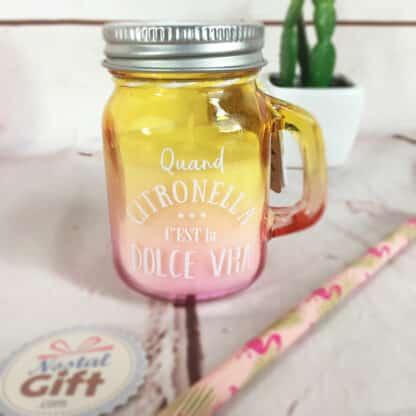 Bougie parfum citronnelle - Mini mason jar