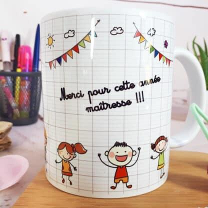 """Mug - """"Merci pour cette année Maitresse' - Idée cadeau maîtresse"""