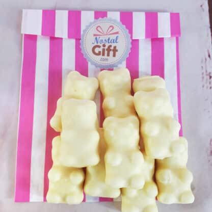 Oursons chocolat blanc x10