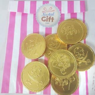 Pièces en chocolat - Pirate x10 - diamètre 4cm