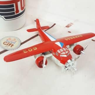Avion en métal  - 14 cm