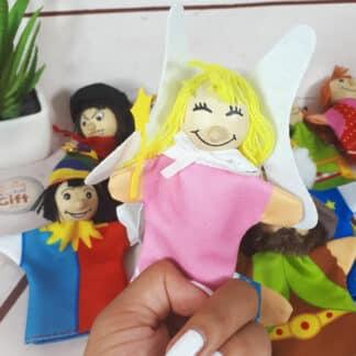 Lot de 12 marionnettes à doigt