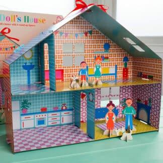 Maison de poupée vintage en carton