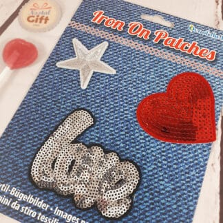 Patches Thermocollants - coeur en strass