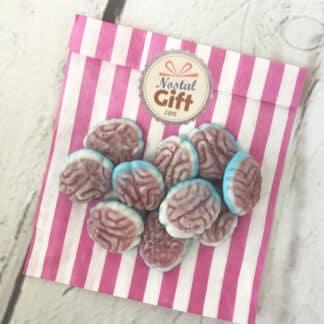 Bonbons Cerveaux gélifiés bleus et rouges x10