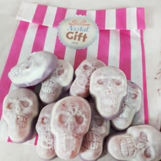 Bonbons Crânes gélifiés remplis de gelée x10