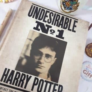 Cahier A5 - Avis de recherche Harry Potter