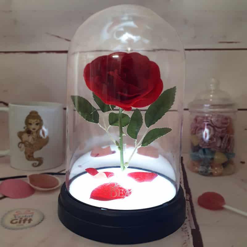 Lampe Veilleuse Disney La Belle Et La Bete Rose Enchantee